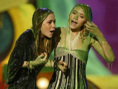 Olsen twins and slime (not ours)