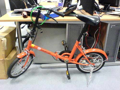 Dreamcast Orange Folding SEGA Bicycle!