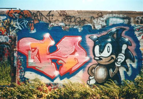 MORE SEGA graffiti
