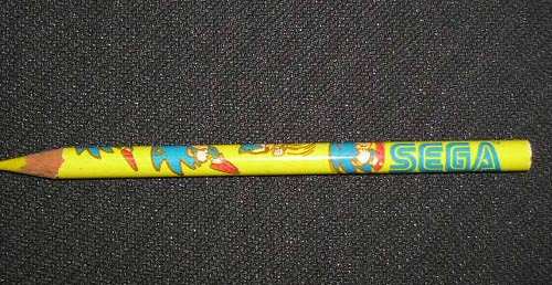 A man's SEGA pencil