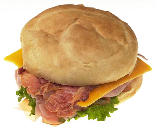 A nice photo of a bacon sandwich