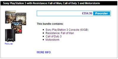 GAME's PS3 megadeal