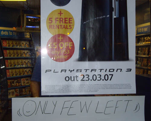 PS3 - Only few wanted