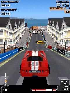 Project Gotham Racing on mobile phone