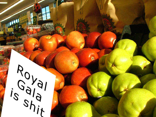 Supermarket apple war