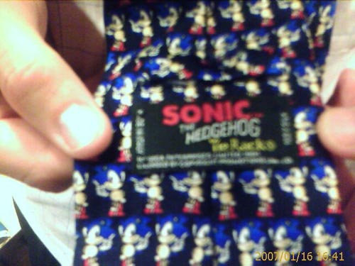 A man's friend's Sonic tie