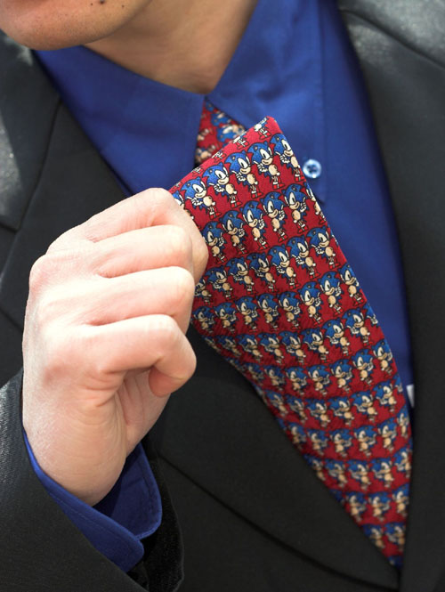 A mate of a mate's mate's Sonic tie in Japan at a wedding