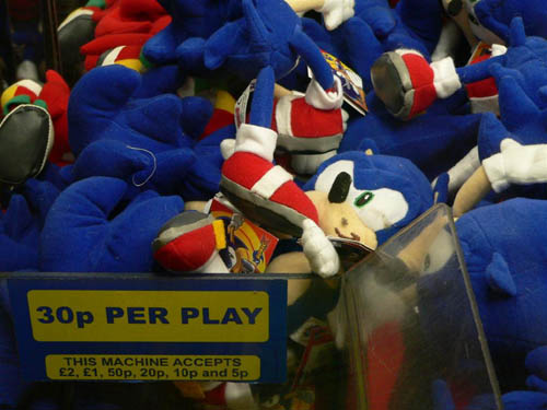 Sonic UFO catcher death camp