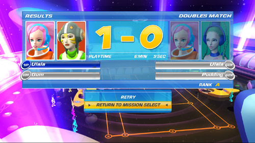 SEGA Superstars Tennis - Back? Or retry?
