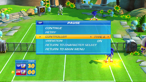 SEGA Superstars Tennis - In-game options aplenty