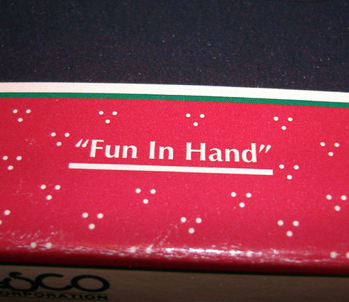 Something witty about fun in hand, ie, wanking