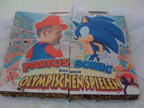German SEGA boss immortalised in cake