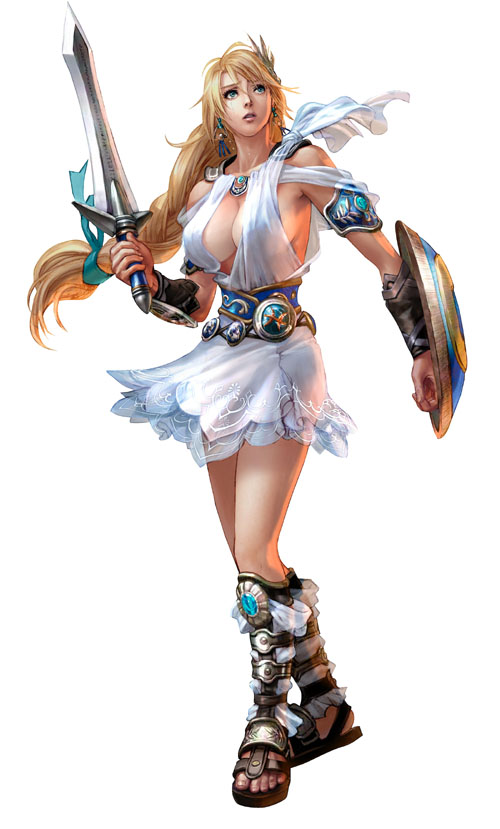 Sophitia, from Soul Calibur, and her massive tits