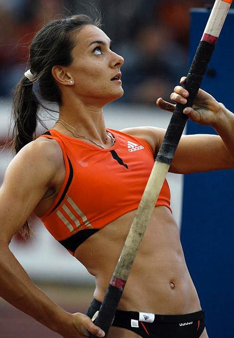 Female Pole Vaulter Upskirt