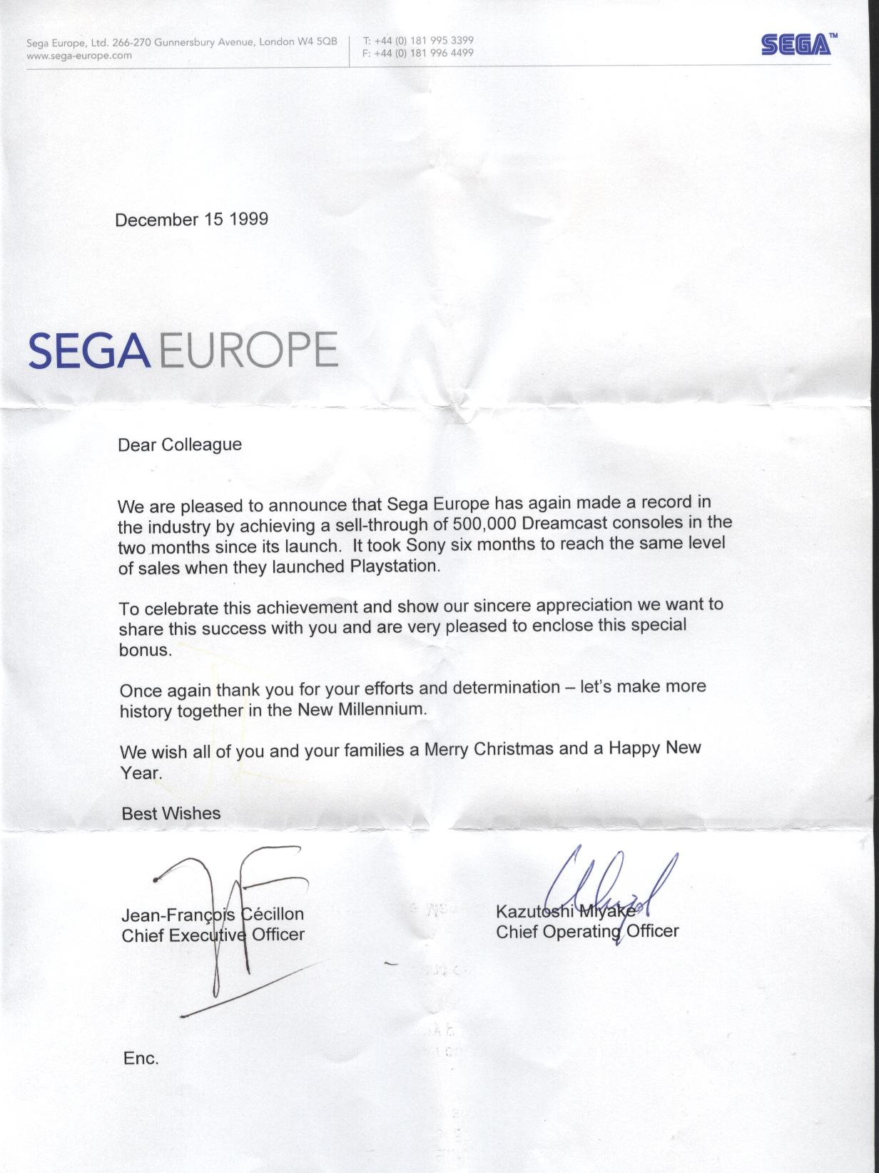 UkResistance Sega Europe Achieves SellThrough Of