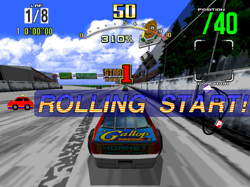 Daytona USA via the Model 2 emulator