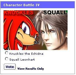 If you don't vote for Knuckles, the terrorists have already won!